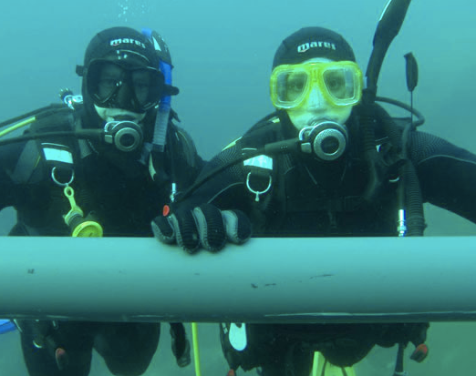 Our adventurous side - scuba diving in cold Canadian waters!