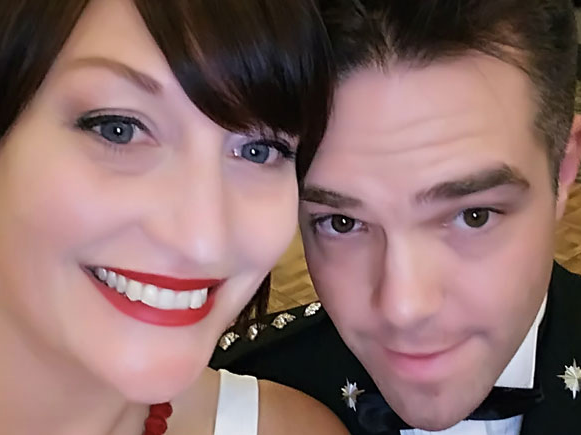 Eliza and Kenneth being cheesy at the Marine Corps Ball, 2018