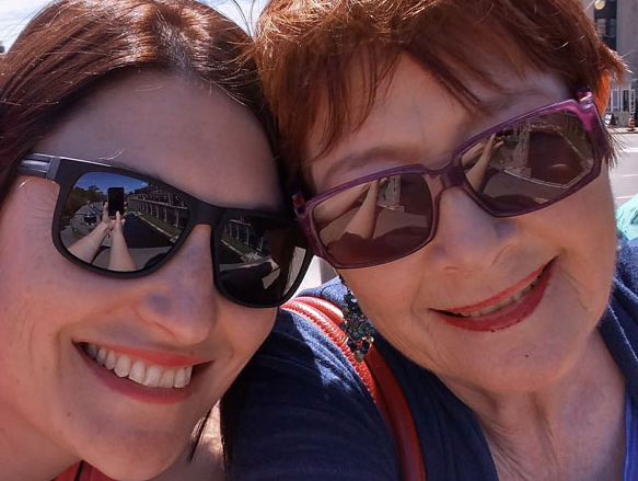 Eliza and Clara (her mother), outside Parliament (not pictured) 2018
