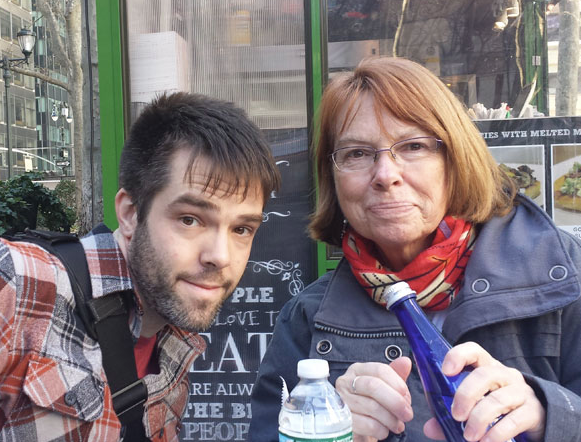 Kenneth and his mother, Daniele, in New York, 2017