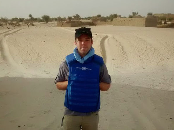 Kenneth in Mali, looking blue, 2015