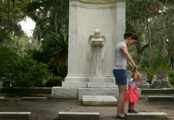 Eliza exploring Savannah with her best friend's little one, 2015