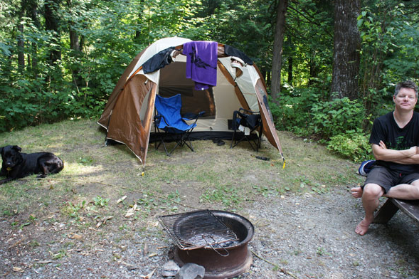 Camping in New Brunswick (2012).