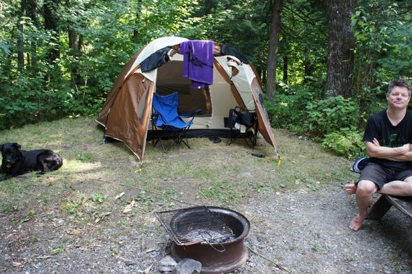 Camping in New Brunswick (2012).