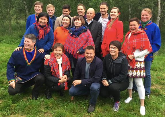 Marius's Sami family in northern Norway (2016).