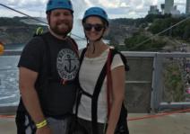 Ziplining over Niagra falls