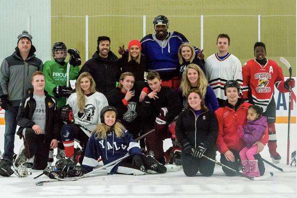 Annual family hockey game in Ottawa