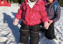 On the skis for the first time