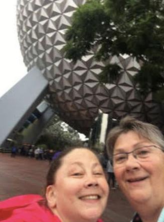 Mom and I at Epcot.