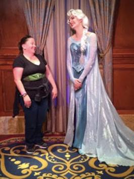 Meeting Queen Elsa at Disney World.