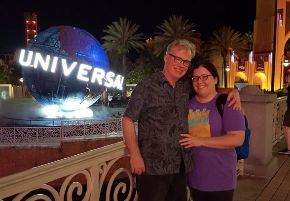 Dan and Jenn at Universal