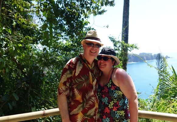 Dan and Jenn in Costa Rica