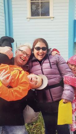 Dan Jenn and their niece and nephew enjoying a cool day at Wonderland
