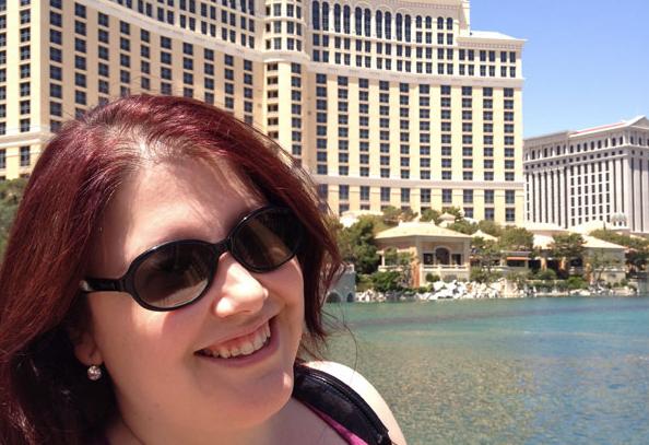 Jenn at the Bellagio in Las Vegas