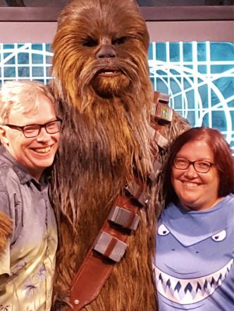 Dan and Jenn with  Chewie