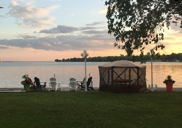 Sunset on the lake at our cottage.