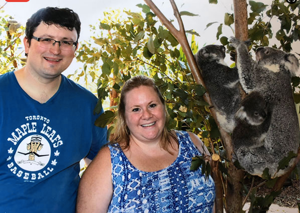 Getting up close and personal with some Koala Bears in Australia.
