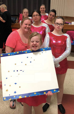 Hannah and her Special Olympics Gymnastic Team.