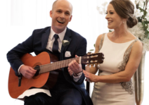 Singing together at our wedding