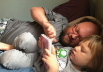 Andrew Reading a Story to Abigail
