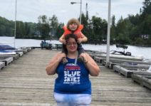 Angela and Abigail at the Cottage