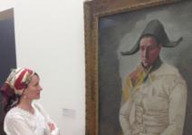 Hilda admiring Picasso's painting