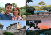 Hilda and Carl in the south of France. Home away from home.