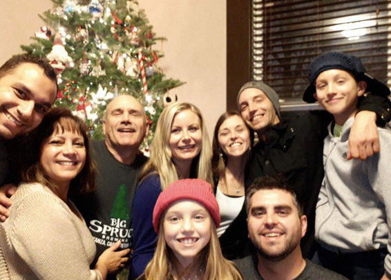 Christmas with the family at our house!