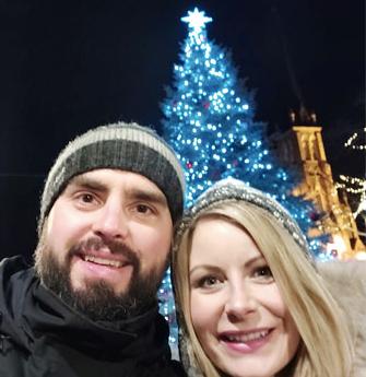 Walking through our downtown during the Christmas season!