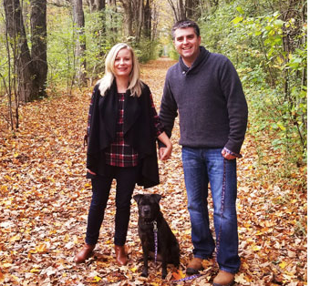 Out for a fall walk with Roxy!