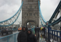 A rainy London afternoon on Tower Bridge