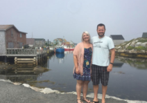 A stop at Peggy's Cove NS on a trip for a friend's