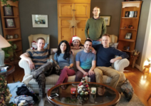 Christmas morning with Eric's family