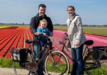 Cycling in spring time Holland