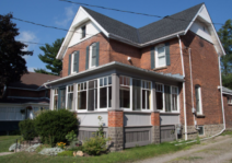 Our 110 year old house in Brockville, on a calm street near the old down town on the river