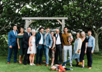 Our immediate family on our wedding day