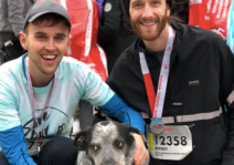 Ed did not run the half marathon with us, but joined for a photo op