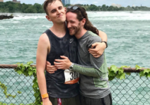 Our engagement on Niagara Falls right after a 300km relay