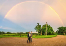 Double rainbow on our wedding day