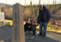 Family at the Alaska/ Yukon boarder