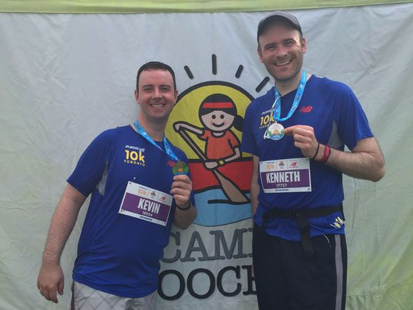 Our fifth 10k run to raise money for Camp Ooch.