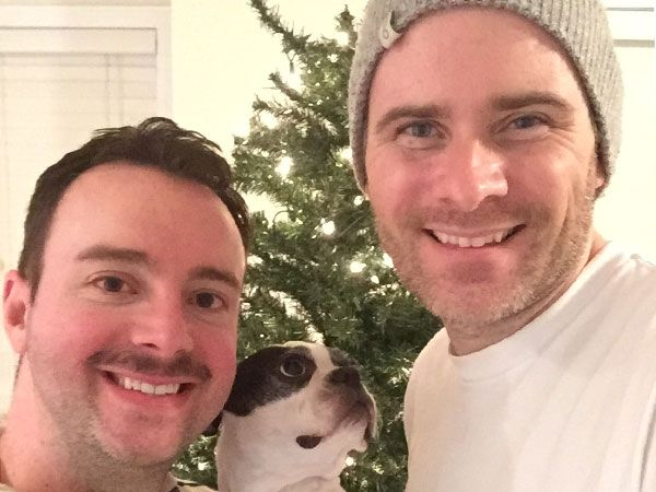 Putting the Christmas tree up a little early! (Kev's moustache is in support of Movember)