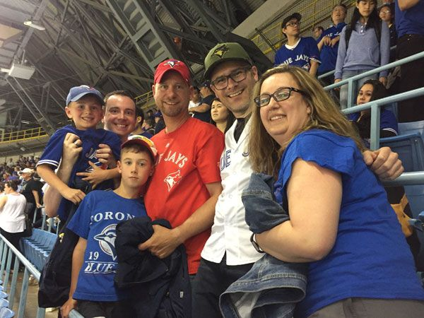 Cheering on the Blue Jays is one of our favourite things to do - especially with family!